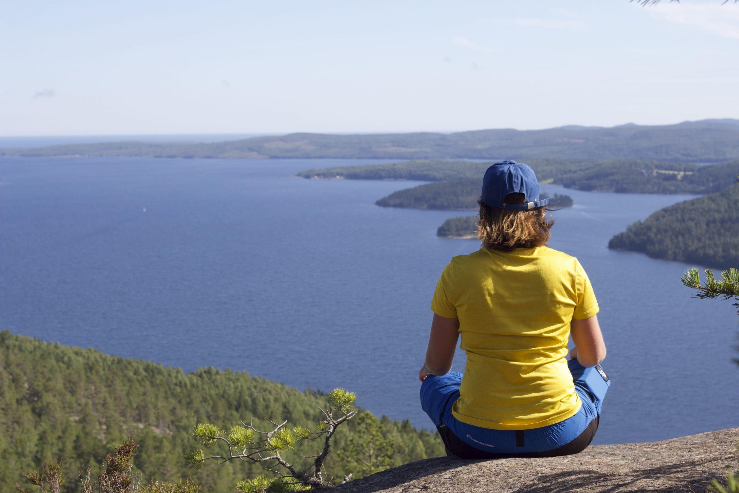 Widok na wysokie Wysokie Wybrzeże w Szwecji