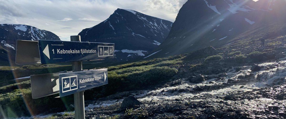 Kebnekeise najwyższa góra w Szwecji.